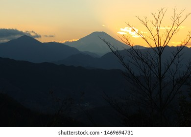 Mt Fuji Sunset from Mt Takao