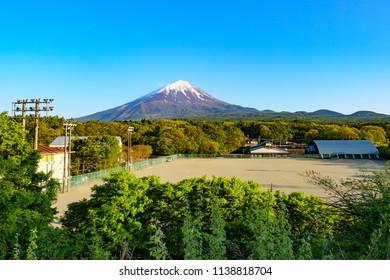 Mt. Fuji view in Japan at near town