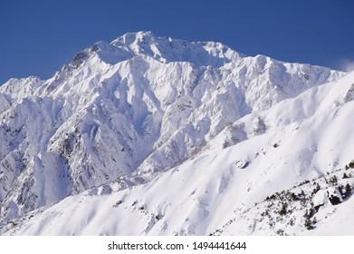 Mt, Goryudake in Hakuba snow resort, Japan
