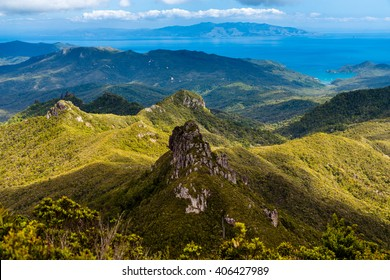 Mt Heale view from Mt Hobson, Great Barrier Island, New Zealand