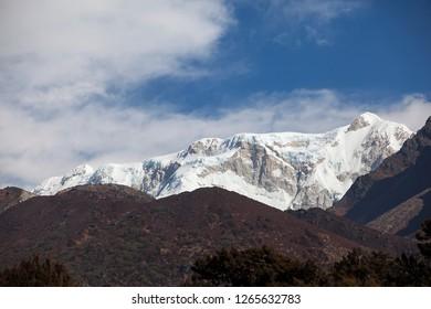 Mt Kabru in Kanchenjunga region of Nepal.