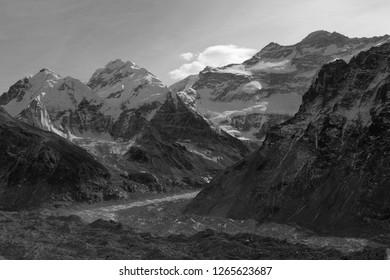 Mt Kanchenjunga view from pang pema base camp in Nepal.