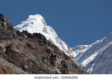 Mt. Kangbachen in Kanchenjunga region of Nepal.