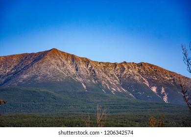 Mt Katahdin landscape in Baxter State Park