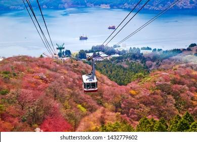 Mt. Komagatake Ropeway at Hakone, Kanagawa prefecture, Japan.