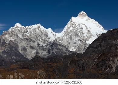 Mt. Kumbhakarna Jannu in Kanchenjunga region of Neapl.