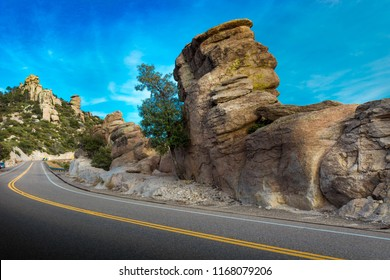Mt Lemmon Hwy, Tucson, Arizona. Hoodoos, unusual rock formations.