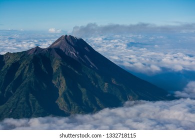 Mt Merapi is active vulcano on Central Java Indonesia