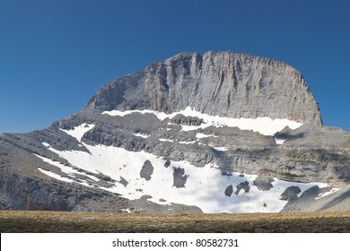 Mt. Olympus in Greece and the throne of Zeus also called 'Stefani' at the 'Muses' plateau. Mountain Olympus believed to be the palace of the mythical twelve Gods  of Greece