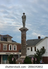 Mt. Pleasant, Pennsylvania  USA - July, 10, 2021: The Doughboy statue in Mt. Pleasant, PA.