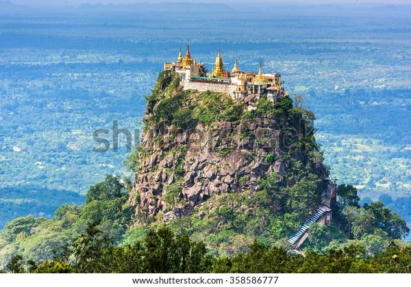 Mt. Popa, Division de Mandalay, Myanmar.