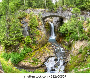 Mt Rainier National Park is the most popular place in Washington state.Christine Falls is one of the numerous falls in Mt Rainier NP.