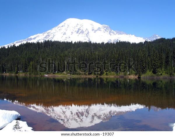 Mt Rainier reflection