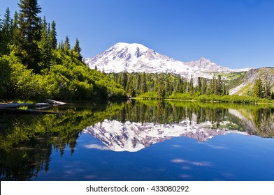 Mt Rainier Reflection from Bench Lake