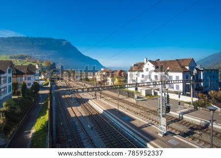 mt rigi switzerland november 1 2017 stock photo edit now 785952337