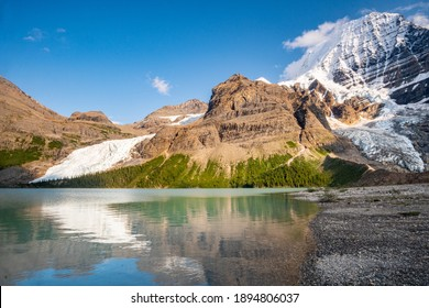 Mt. Robson and Berg Lake - Highpoint of the Canadian Rockies - Shutterstock ID 1894806037