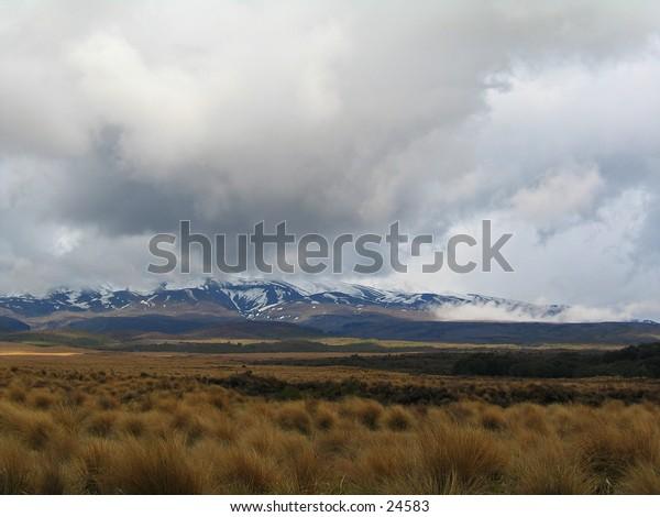 Mt Ruapehu from Desert Road, New Zealand