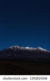 Mt Ruapehu Night Sky New Zealand
