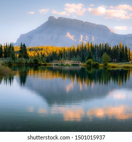 Mt Rundle In Banff National Park