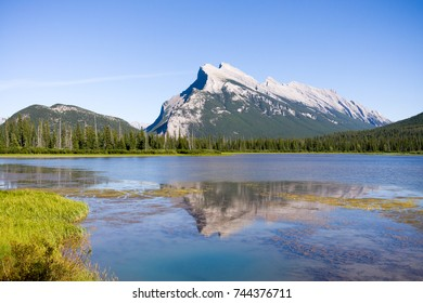 Mt. Rundle at at the lake at Banff National Park, Alberta, CA