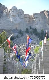 Mt Rushmore located in the Black hills  of eastern South Dakota