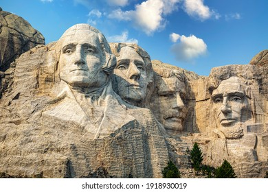 Mt. Rushmore National Memorial Park in South Dakota. Mount Rushmore National Memorial is centered on a colossal sculpture carved into the granite in the Black Hills in Keystone, South Dakota