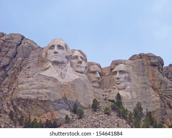 Mt. Rushmore, South Dakota.  The Mount Rushmore National Memorial is a sculpture carved into the granite face of Mount Rushmore near Keystone, South Dakota, in the United States.