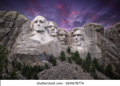 Mt. Rushmore Under a Stunning Sky