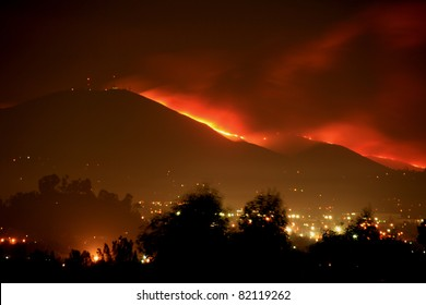 Mt. San Miguel is on fire.  San Diego County wildfire.
