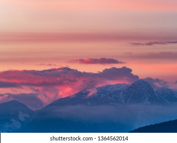 mt seymour provincial park at sunset, vancouver, canada.
