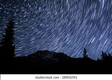Mt Shasta 02 Perseids Meteor Shower 2012  Star Trails Bunny Flat California U