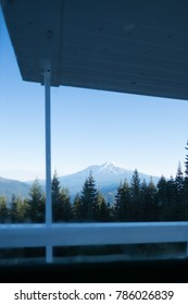 Mt Shasta from a cabin