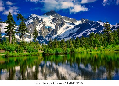 Mt Shuksan from Artist Point, Whatcom County, Washington, U.S. North Cascades National Park