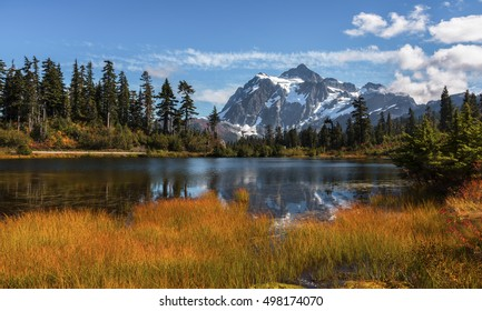 Mt Shuksan in the Fall