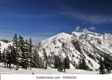 mt. shuksan with snow in winter, snoqualmie national Forest