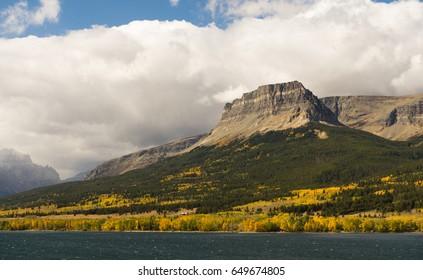 Mt Siyeh Lower Saint Mary Lake Montana Territory