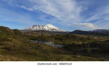 Mt St Helens in Spring