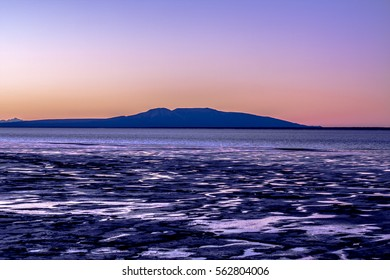Mt. Susitna viewed from Anchorage Alaska