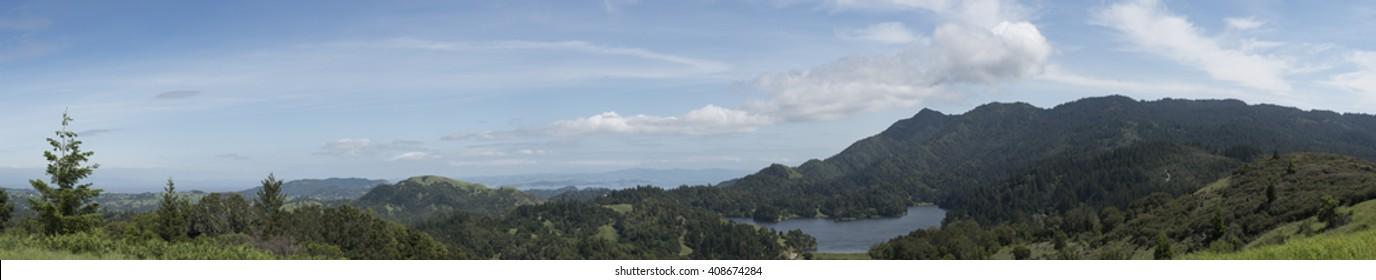 Mt. Tamalpais and Lake Lagunitas Panorama