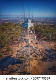 Mt Tarrengower Lookout Tower - Maldon. Tower is now used for fire spotting. Built 1923.