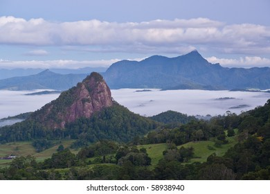Mt Warning from Nightcap National Park, Doughboy Hill in foreground