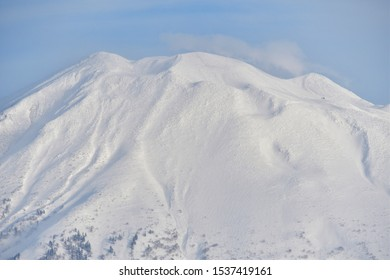 Mt Yotei covered in snow