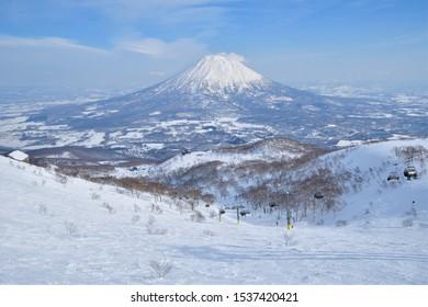 Mt. Yotei on the large ski slope
