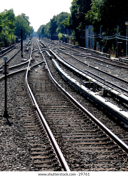 MTA Subway Tracks/Switches in Brooklyn, NY.