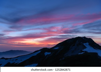 Mt.Asahi at sunset