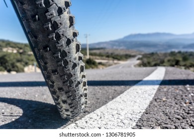 Mtb Bicycle On The Road
