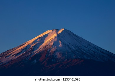 Mt.Fuji with blue sky background