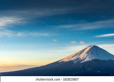 Mt.Fuji forms a cloud.