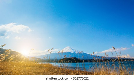 mt.Fuji in kawaguchiko lake,Kawaguchiko lake of Japan,Mount Fuji, Kawaguchi Lake, Japan.