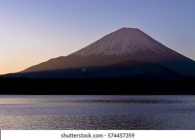 mt.fuji from lake shoji